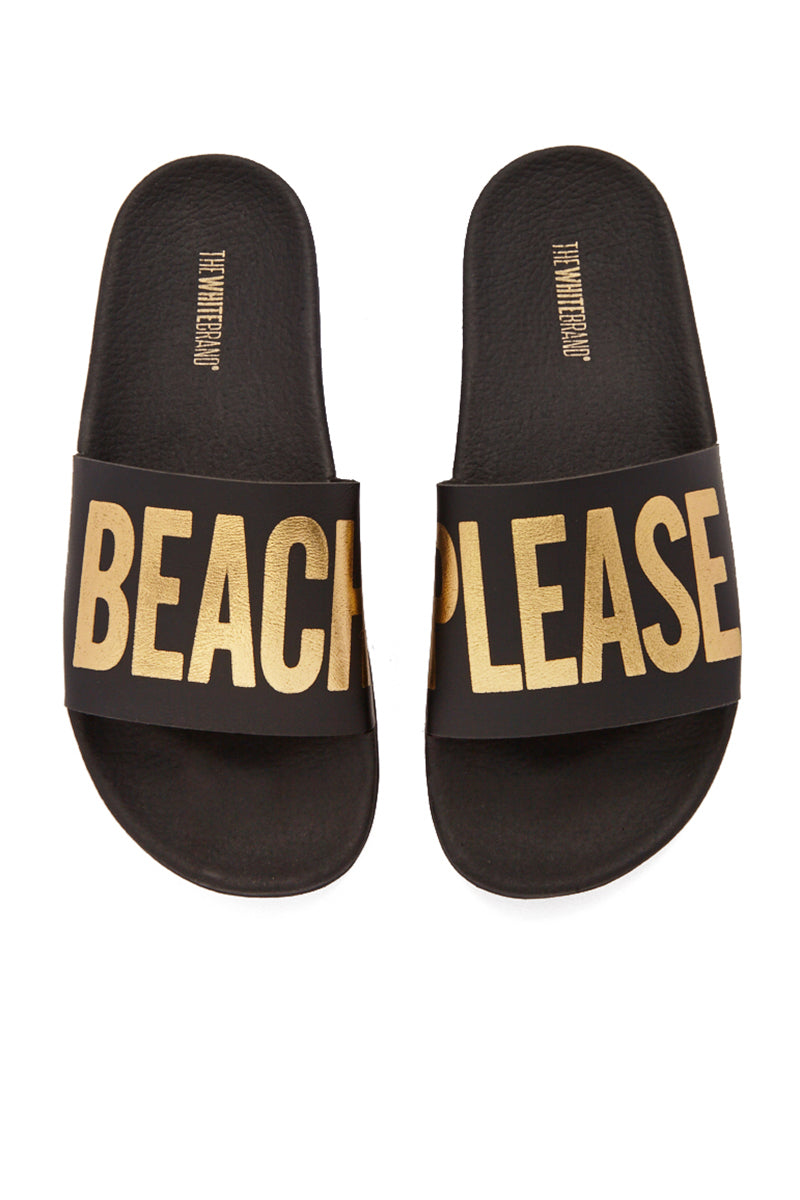 Beach Please Minimal Sandals - Black