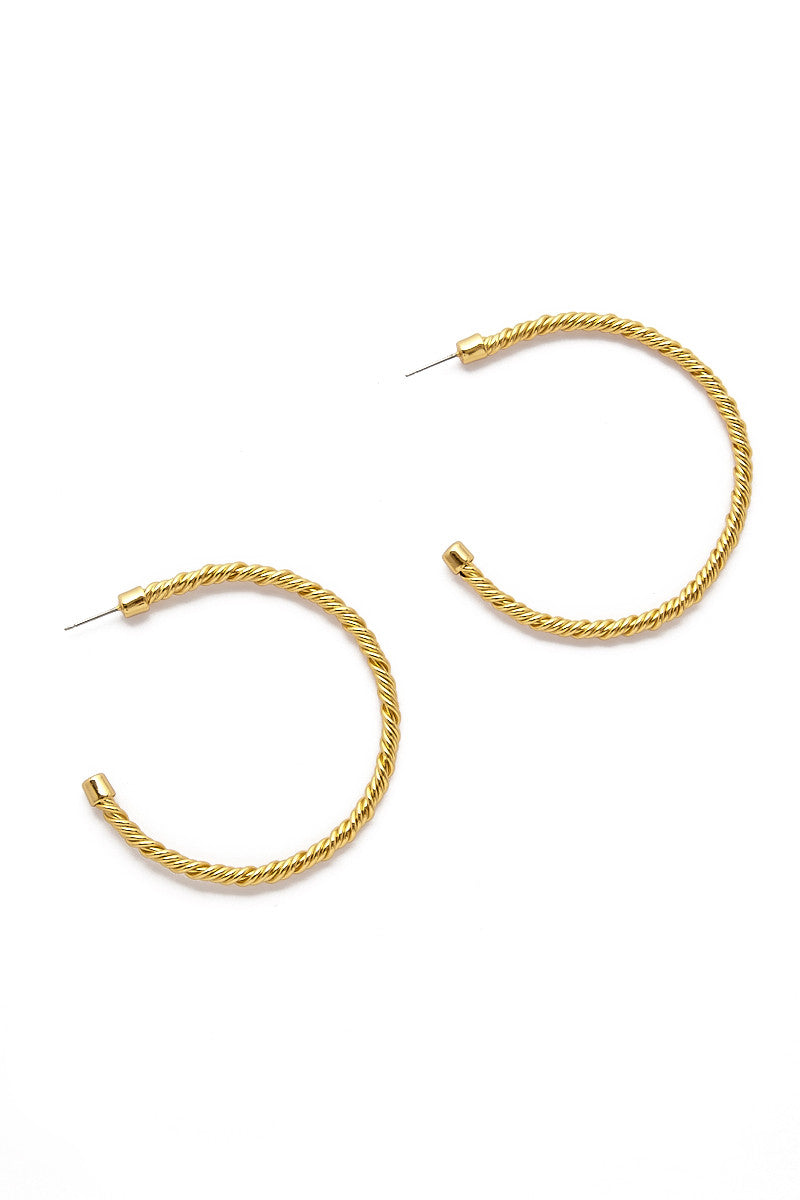 Aspen Hoop Earrings - Gold