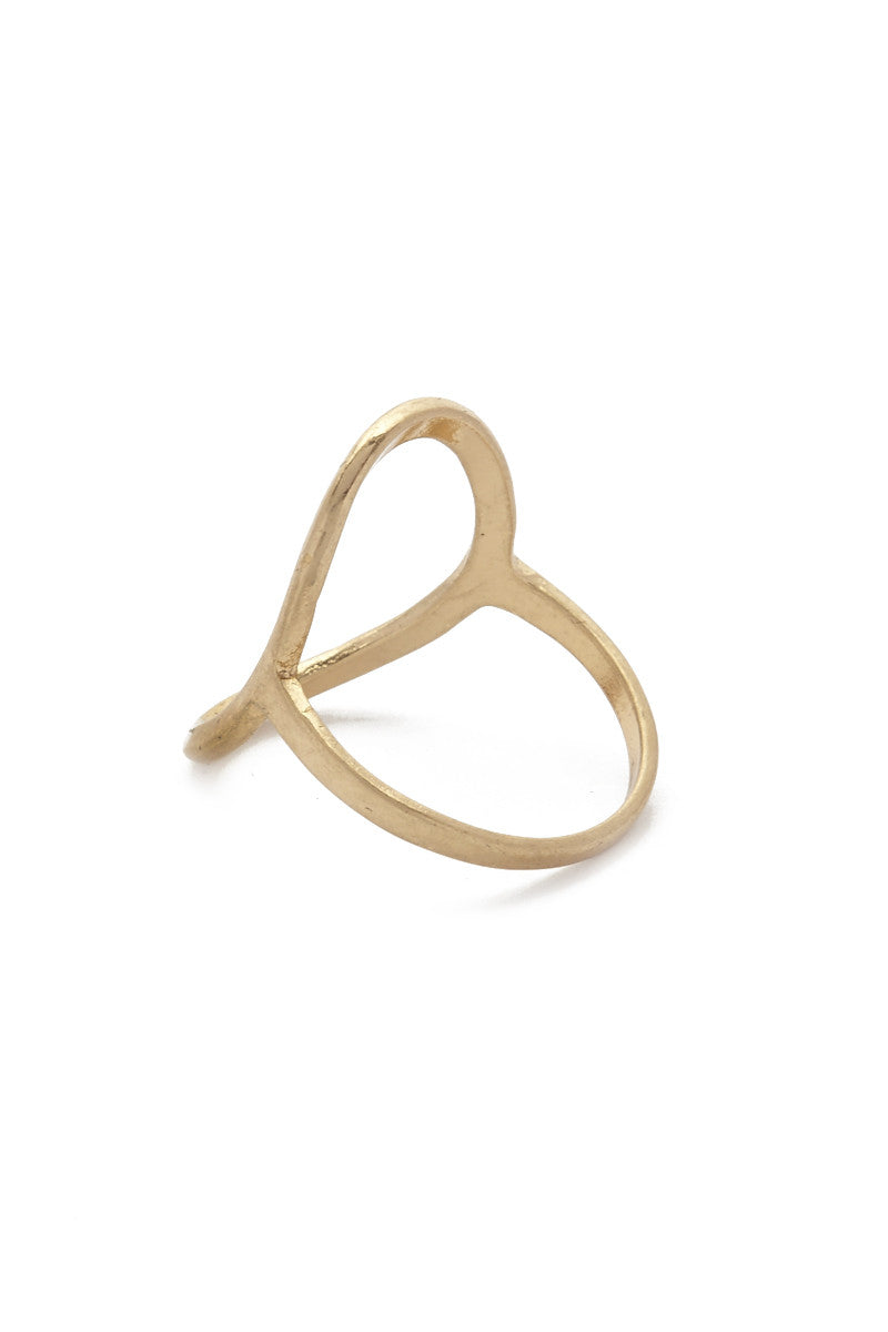 JEWEL CULT Open Circle Ring Jewelry | Matte Gold| Jewel Cult Open Circle Ring