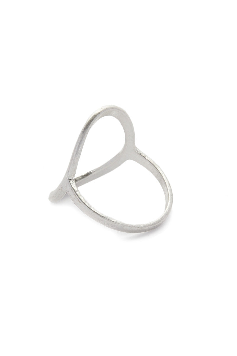 JEWEL CULT Open Circle Ring Jewelry | Matte Silver| Jewel Cult Open Circle Ring