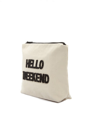 FALLON AND ROYCE Hello Weekend Large Pouch Tote | Hello Weekend Large Pouch