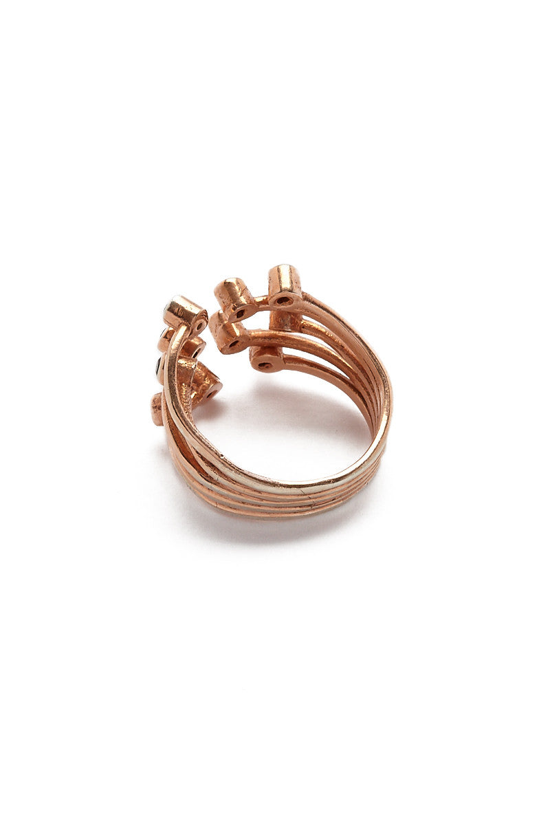 MIRA Spinel Studded Adjustable Claw Ring Accessories | Rose Gold| MIRA Spinel Studded Adjustable Claw Ring