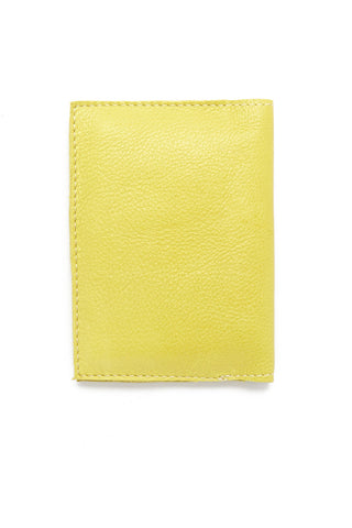 BLYTHE LEONARD Chartreuse Passport Cover Accessories | Chartreuse/Blue| Blythe Leonard Chartreuse Passport Cover
