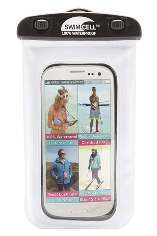 SWIMCELL Large Waterproof Phone Case Phone Accessories | White| Swimcell Large Waterproof Phone Case