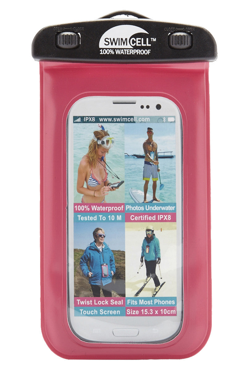 SWIMCELL Large Waterproof Phone Case Accessories   Pink  Swimcell Large Waterproof Phone Case