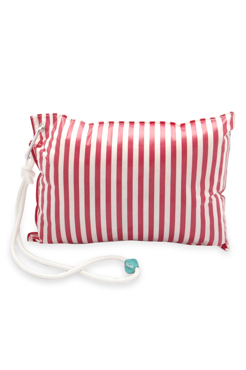 Candy Waterproof Beach Pillow - Pink Stripe