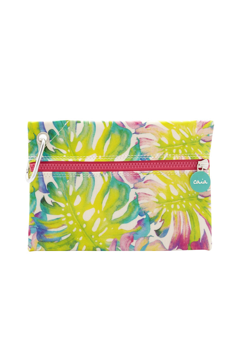Fiji Waterproof Clutch - Lime Print