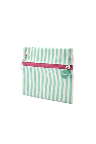 CAIA BEACH PILLOWS Mint Clutch Accessories | Mint Stripe| Caia Mint Clutch