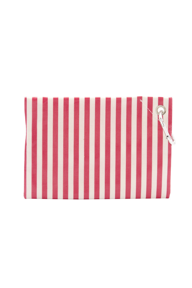 CAIA BEACH PILLOWS Candy Clutch Accessories | Pink Stripe| Caia Candy Clutch