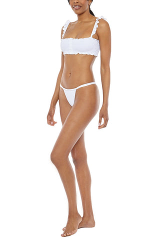 CHLOE ROSE Sweet Pea Bottom Bikini Bottom | White| Chloe Rose Sweet Pea Bottoms