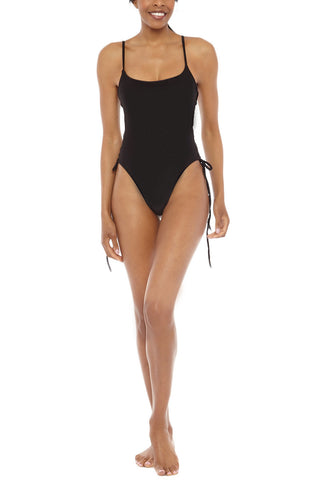 CHLOE ROSE Lily Lace Up One Piece One Piece | Black| Chloe Rose Lily Lace Up One Piece