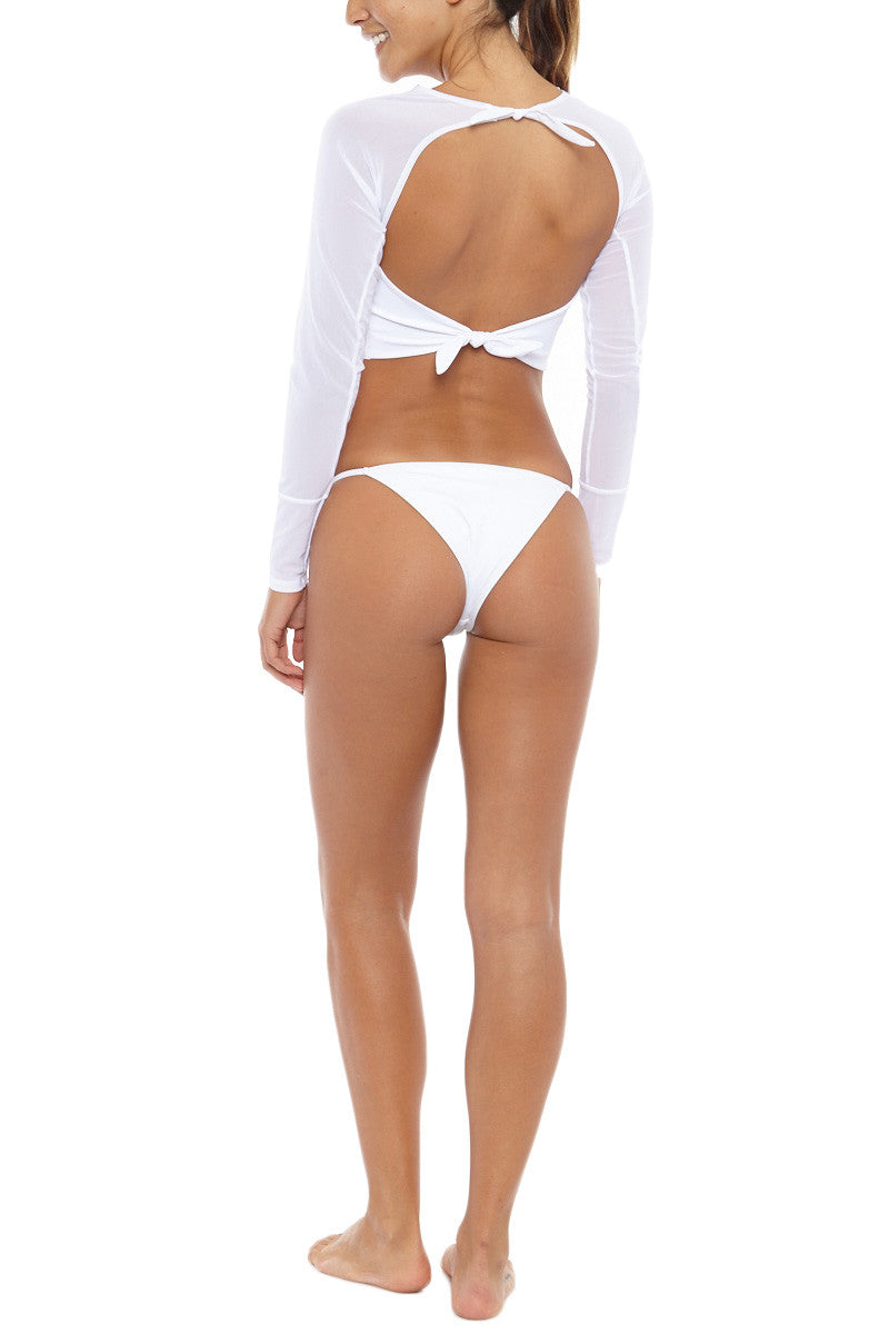 RIOT SWIM Surfer Top Bikini Top | White| Riot Swim Surfer Top