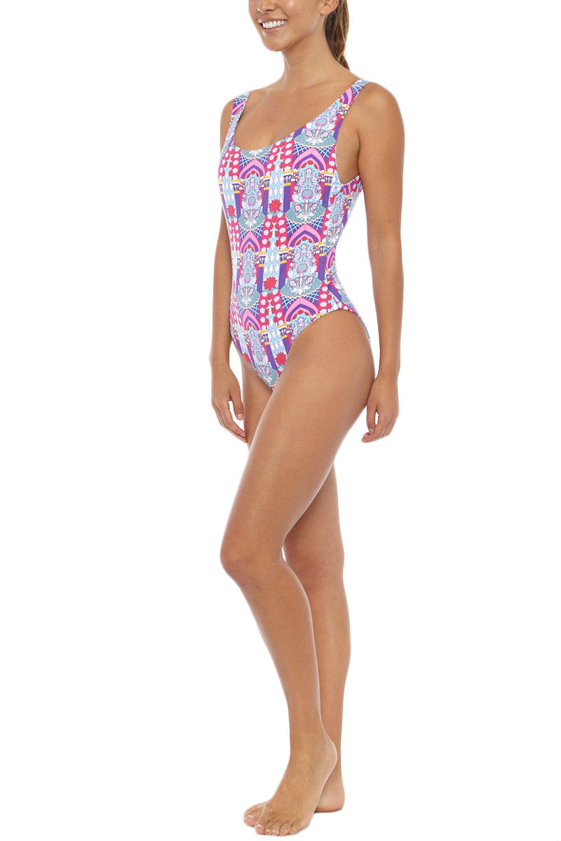 PAOLITA Reversible Mahal One Piece One Piece | Mahal Print| Paolita Reversible Mahal One Piece