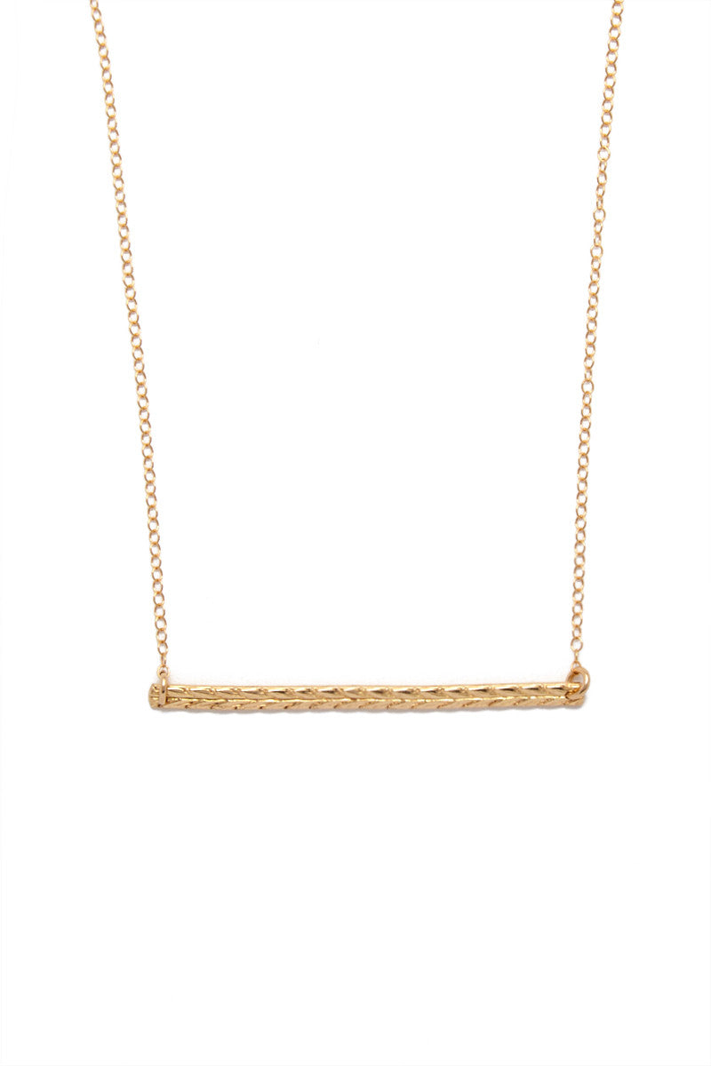 Vaile Bar Necklace - Gold