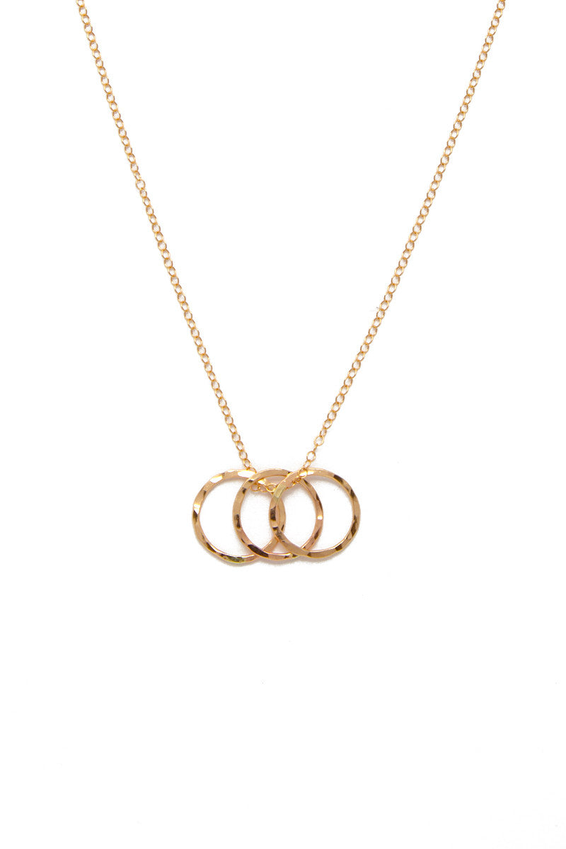 Samantha Multi Ring Necklace - Gold