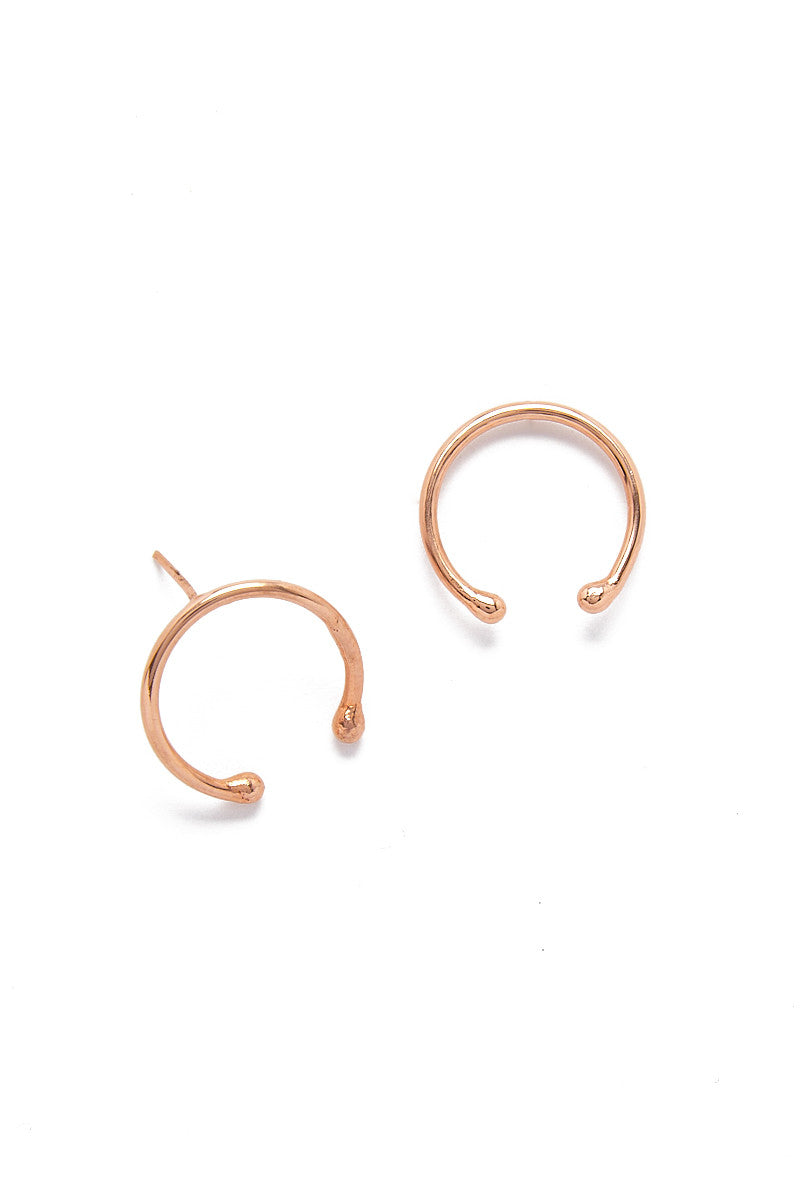 MIRA Horse Shoe Earrings Accessories | Rose Gold| MIRA Horse Shoe Earrings