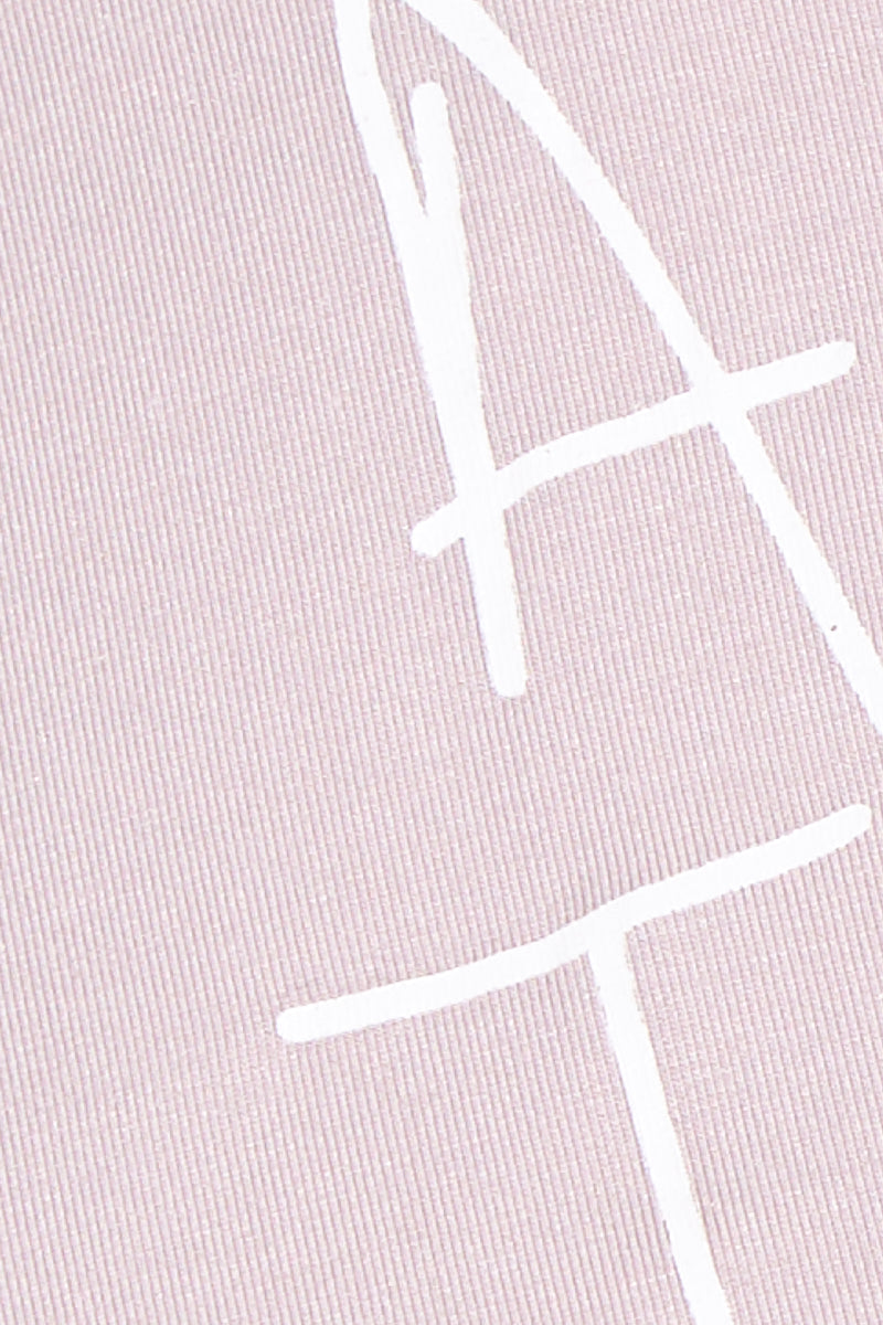 ETE APPARELS All The Feels Crop Tee - Blush Resort Top | Blush| Ete Apparels All The Feels Crop Tee - Blush Close Up View Crop Top  Short Sleeves A -Line Cut   White Font Fabric: Micro Modal