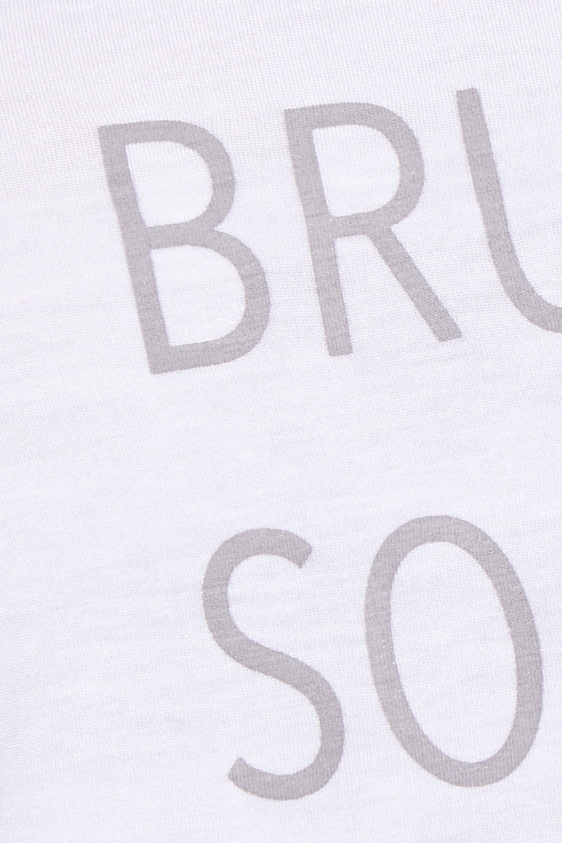 ETE APPARELS Brunch So Hard Scoop Neck Tee - White Top | White| Ete Apparels Brunch So Hard Scoop Neck Tee - White Close Up View Basic Tee  Scoop Neckline  Short Sleeves Gray Font in All Caps Fabric: Micro Modal