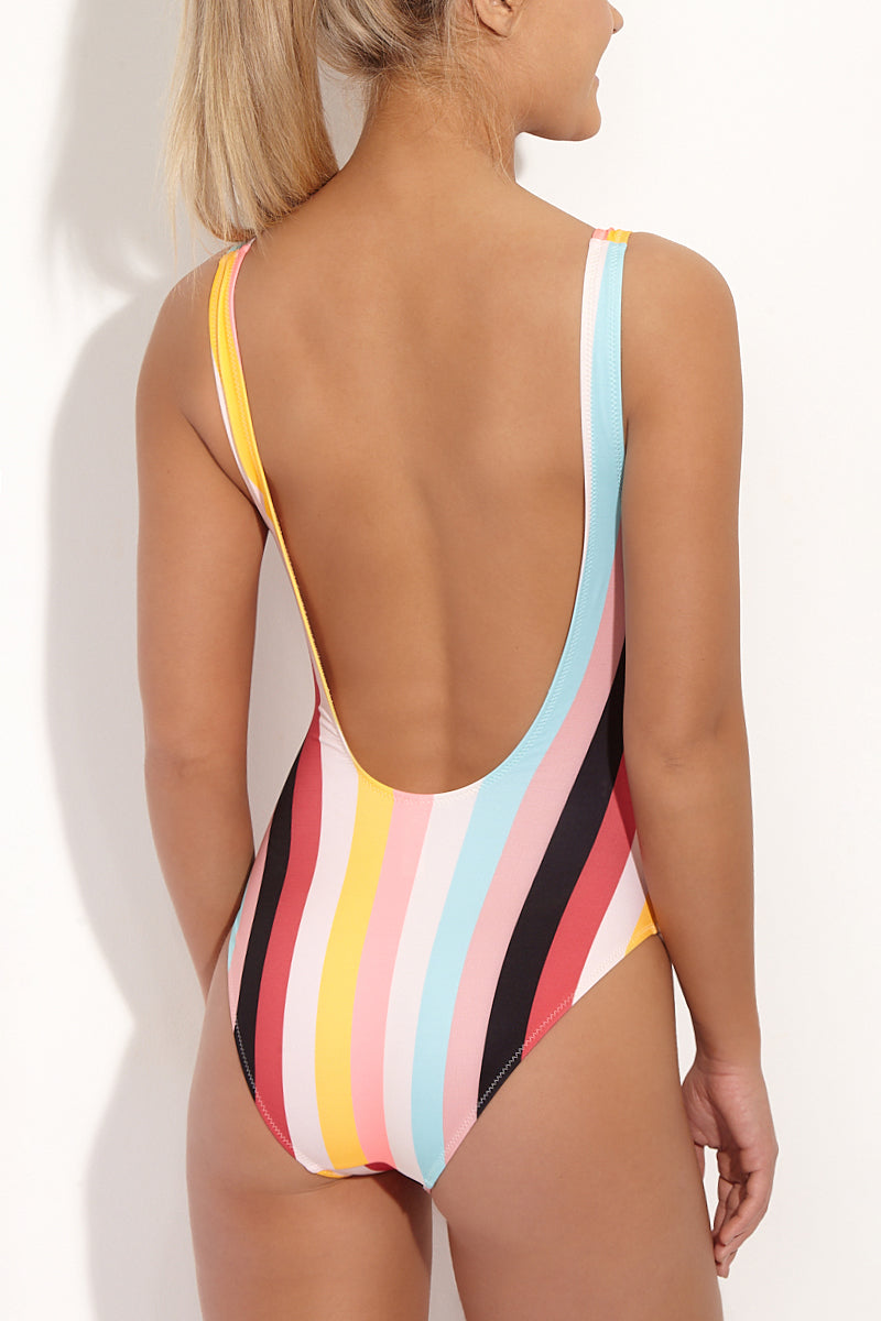 SOLID & STRIPED The Anne Marie One Piece One Piece | Multi Stripe| Solid & Striped The Anne Marie One Piece