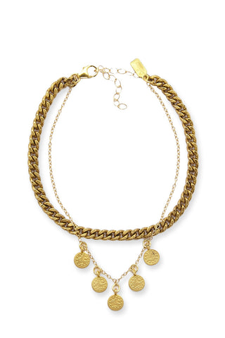 ELECTRIC PICKS Empire Anklet Accessories | Gold| Electric Picks Empire Anklet