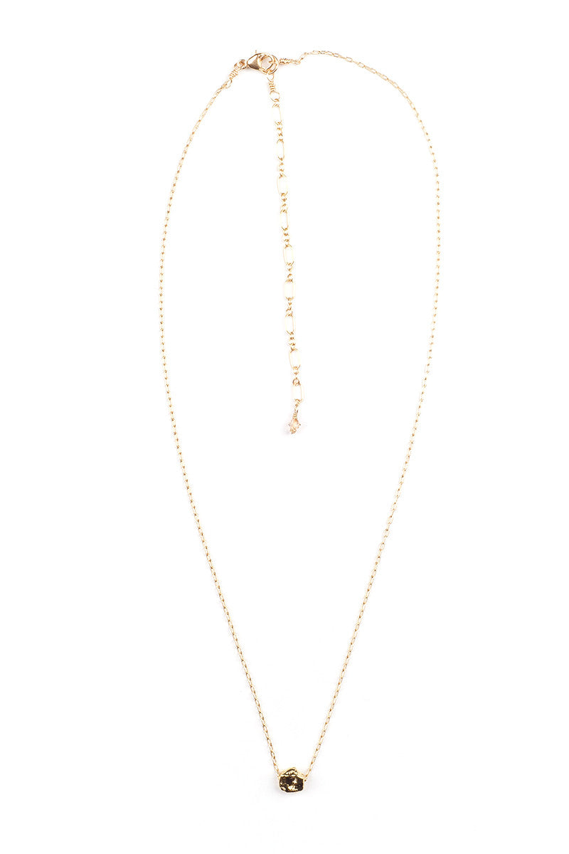 MAILEE Little Nugget Necklace Accessories | Gold|