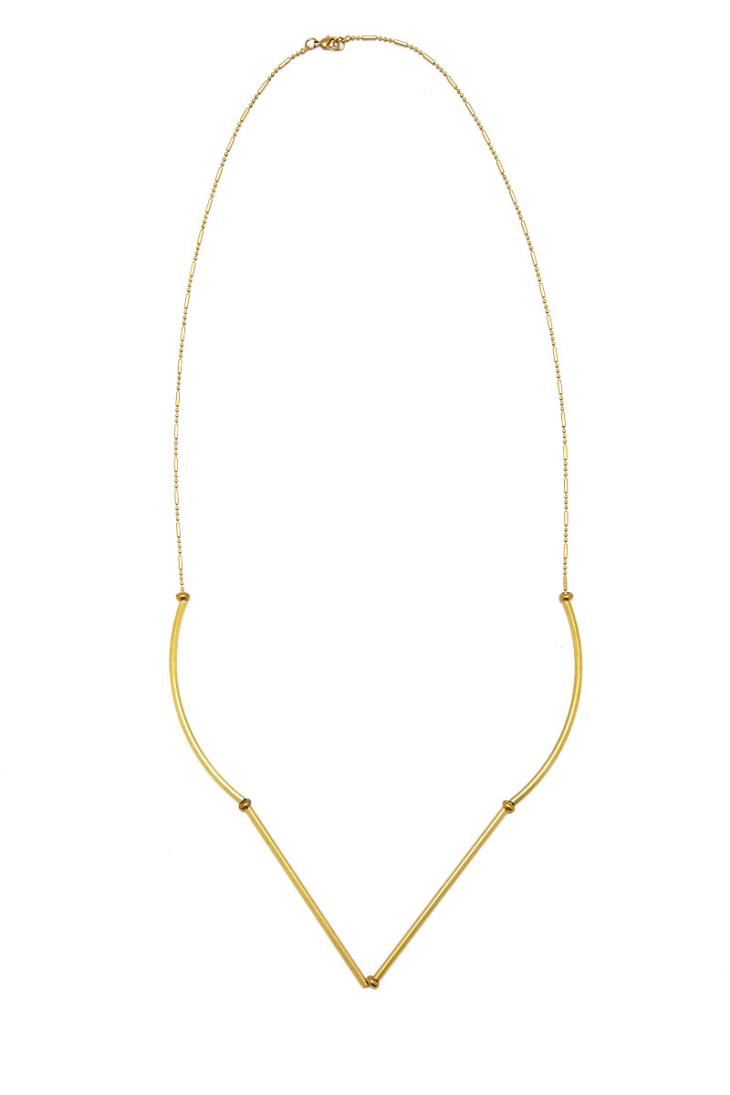 Gold Raw Brass Necklace