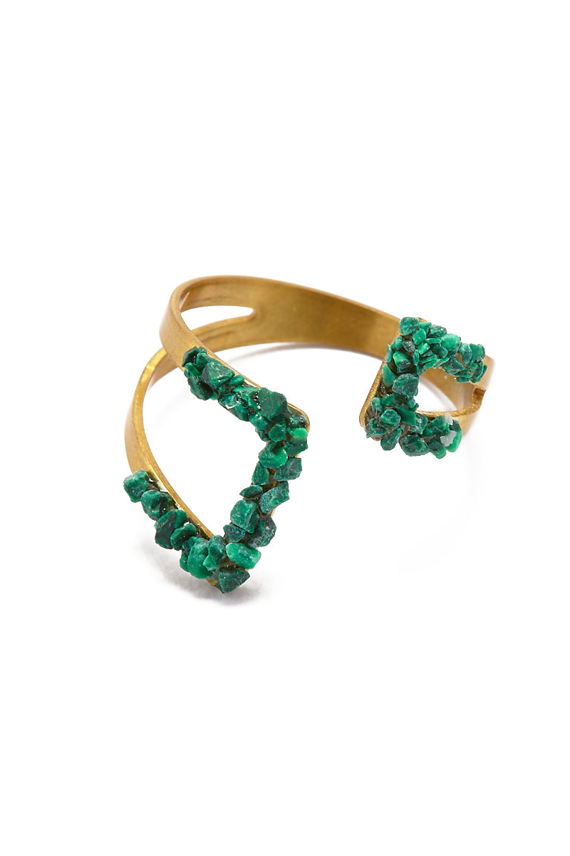 Geometric Ring - Malachite Green