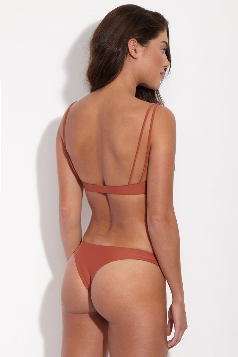 Expose Low Rise Bikini Bottom - Terracotta