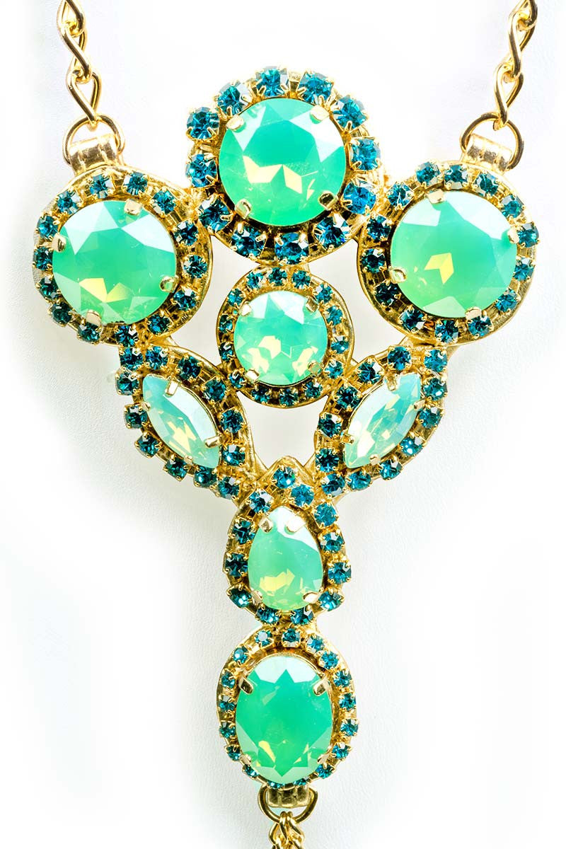 MYSTIQUE Green Envy Foot Jewelry Jewelry | Gold & Opal Green|