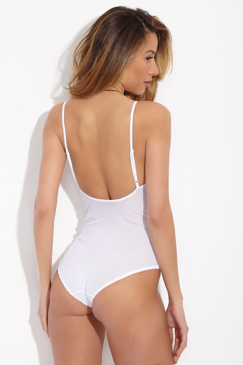 ONIA Arianna One Piece - Mesh Solid White One Piece | Mesh Solid White| ONIA Arianna One Piece
