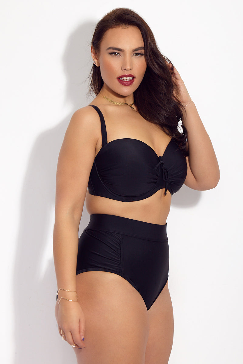 8ea909f8711 ... SKYE+ Waverly High Waist Bikini Bottom (Curves) - Black - undefined  undefined