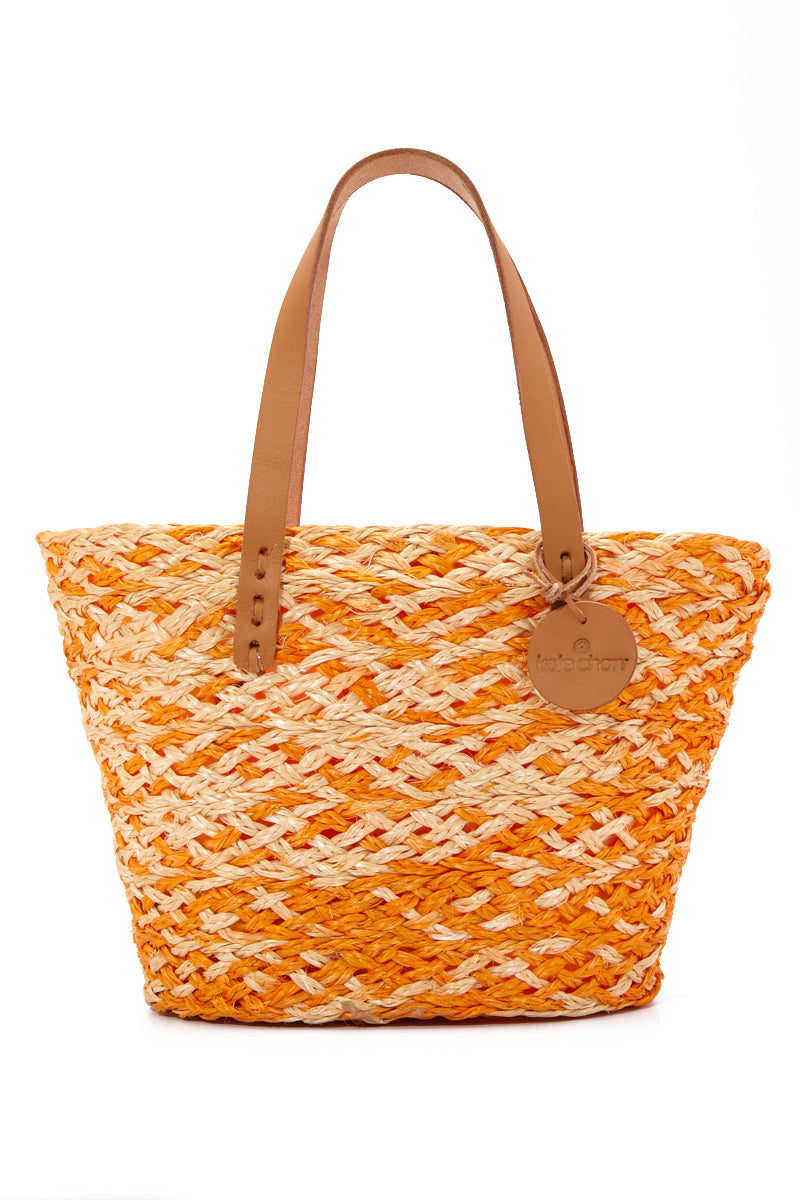 Orange Kelsi Woven Handbag
