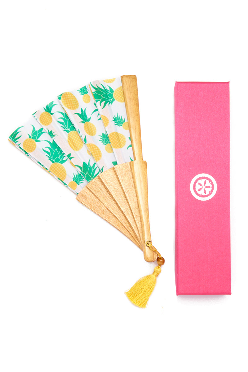 KATE CHAN Pinapple Fan Accessories | Pineapple| Kate Chan Pineapple Fan