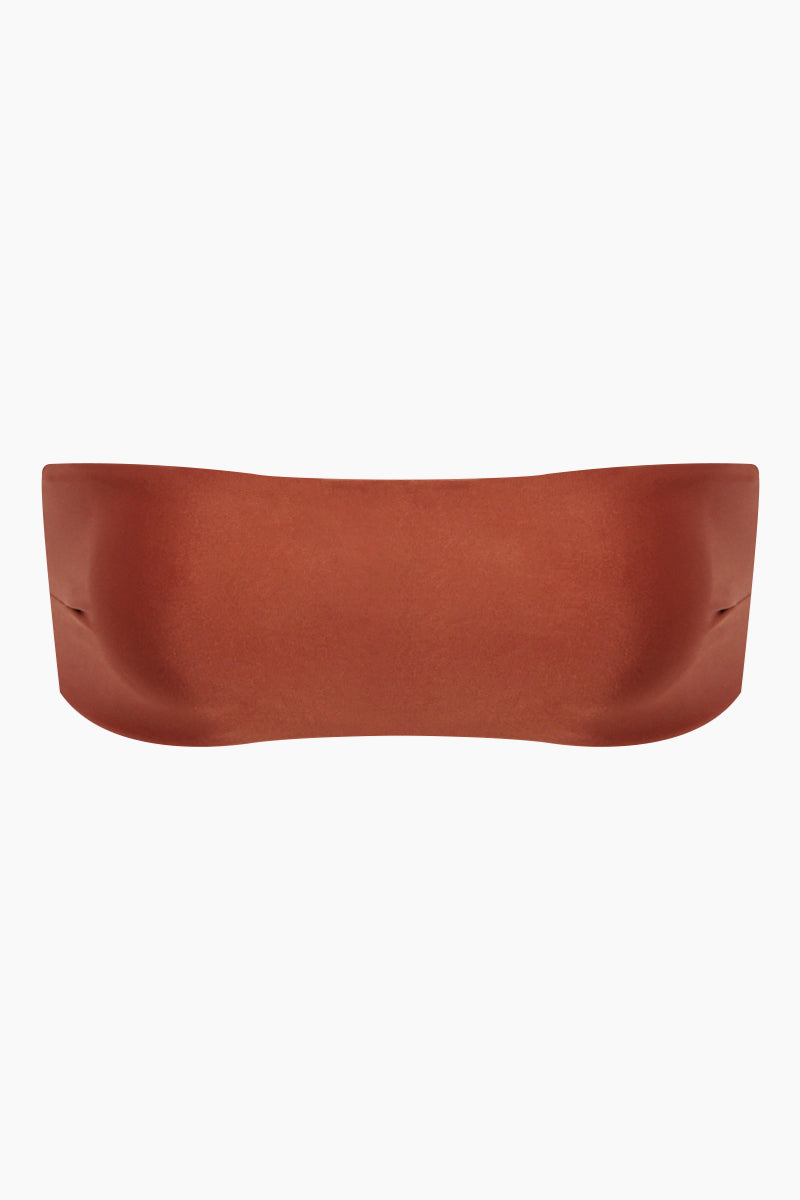 Marcella Bandeau Bikini Top - Mocca Orange