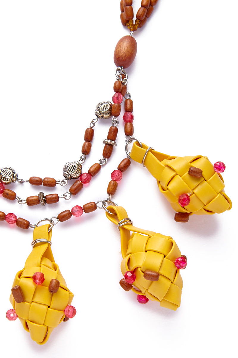 KATE CHAN Marigold Mia Puso Necklace Jewelry | Marigold| Kate Chan Marigold Mia Puso Necklace
