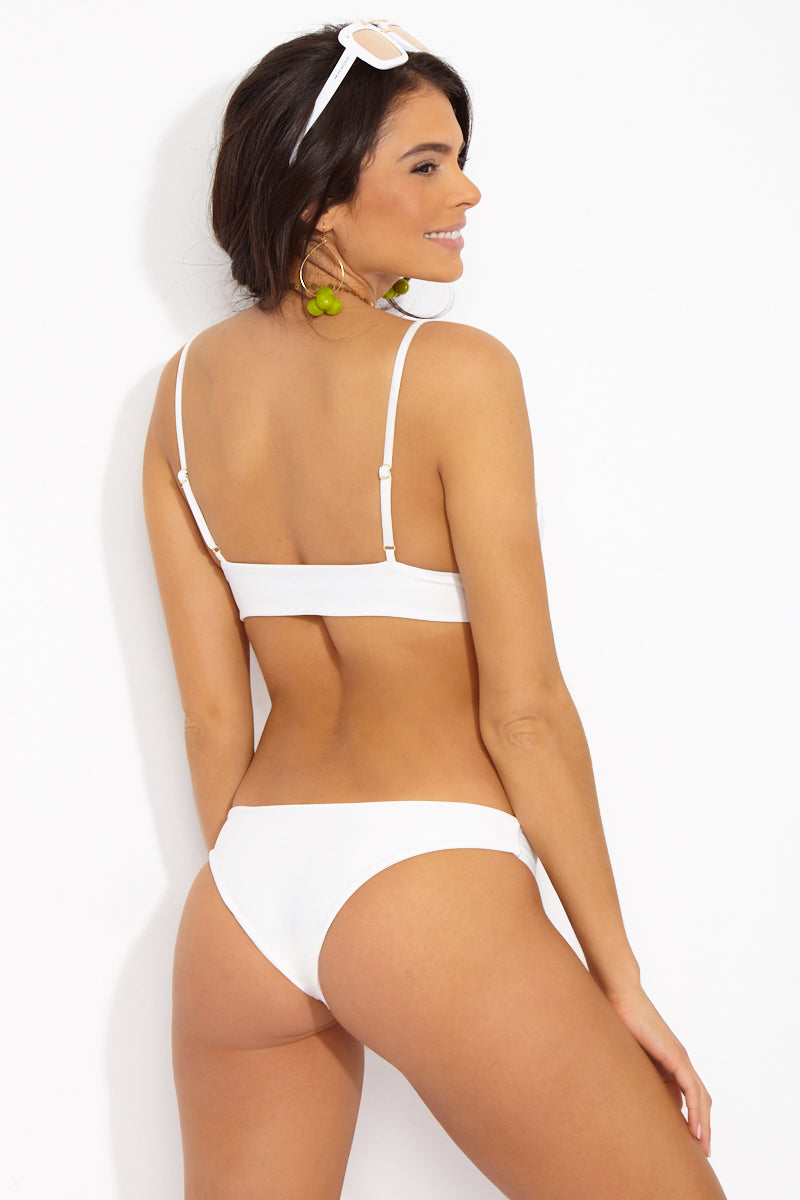 Chiara Cheeky Bikini Bottom - Ceramic White
