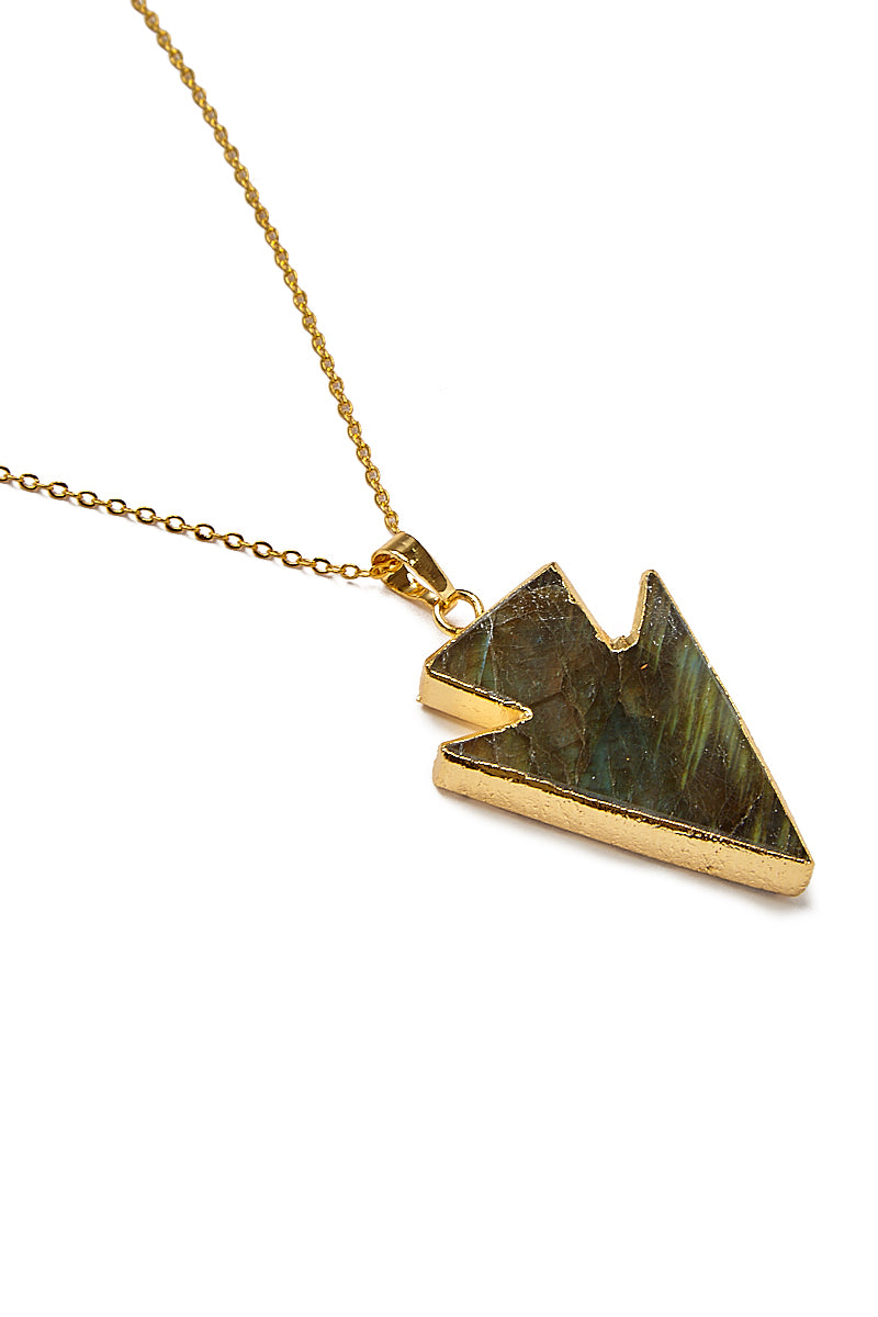 Labradorite Arrowhead Necklace