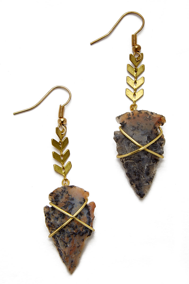 Fishtail Arrowhead Earrings