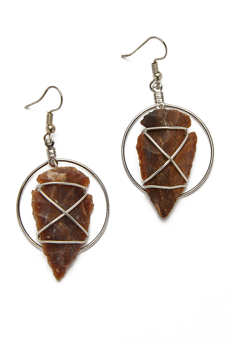 Hoop Arrowhead Earrings
