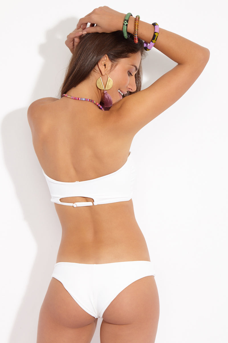 Maria Cheeky Bottom - White Rib