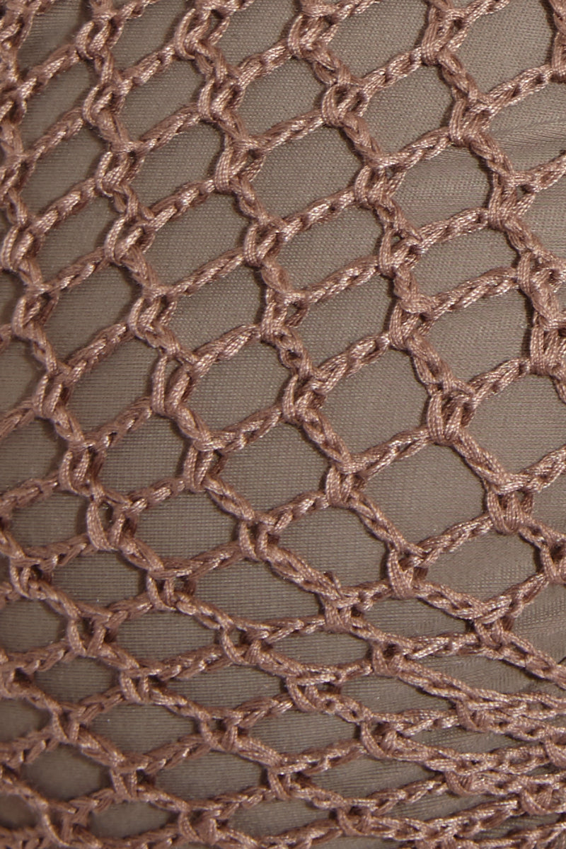 ACACIA Papio Moderate Bottom - Cement Bikini Bottom | Cement| Acacia Papio Moderate Bottom - Cement Swatch View  Smooth Wide Straps Lacing Side Detail Crochet Overlay Front & Back  Cheeky - Moderate Coverage