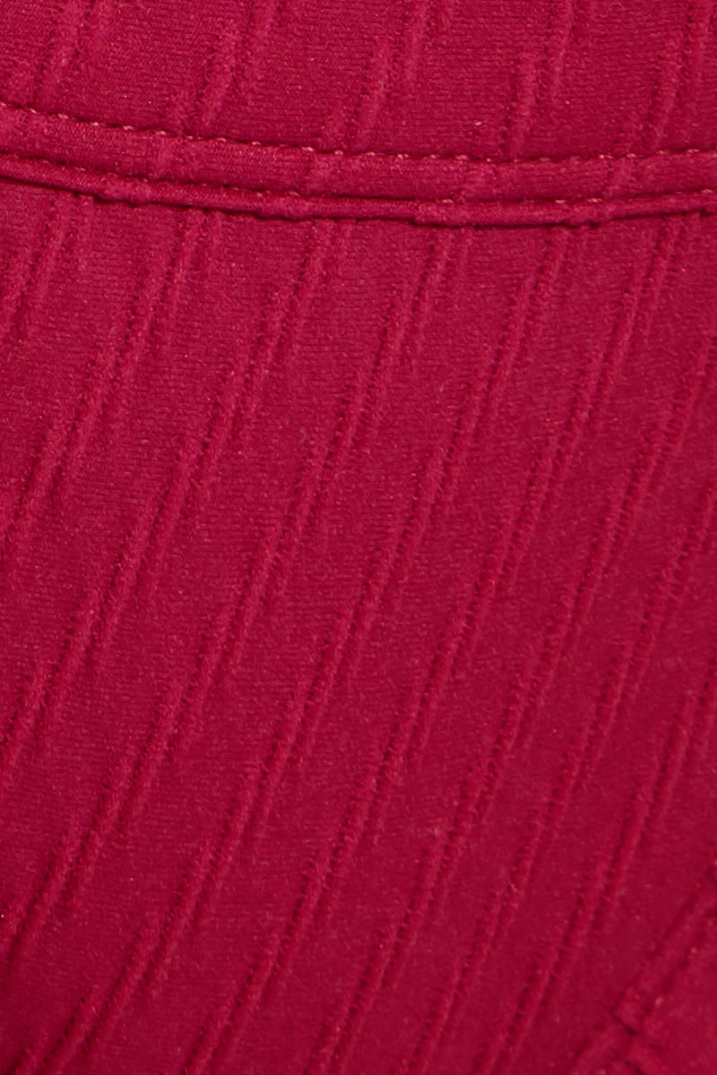 FELLA Logan Bottom - Magenta Bikini Bottom | Magenta|Logan Bottom Detail View Features:  Italian Textured Fabric Classic tanning cut bottom with thin binded sides This best seller features a cheeky cut bum Suitable for girls with both curves and a more tom boy figure