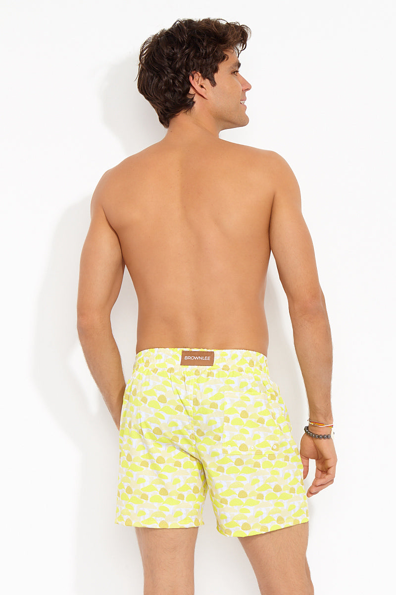BROWNLEE Peter Shorts - Yellow Mens Swim | yellow|Peter Shorts Back View