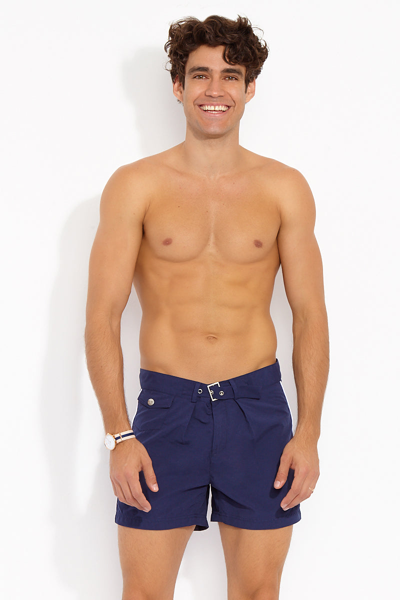 Sailor Mid Length Swim Trunks - Classic Navy