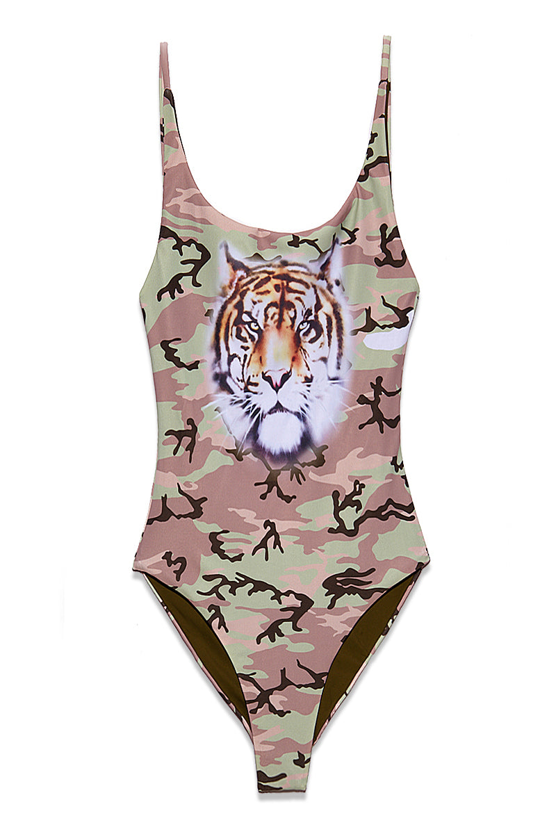 Kenny One Piece - Camo With Tiger