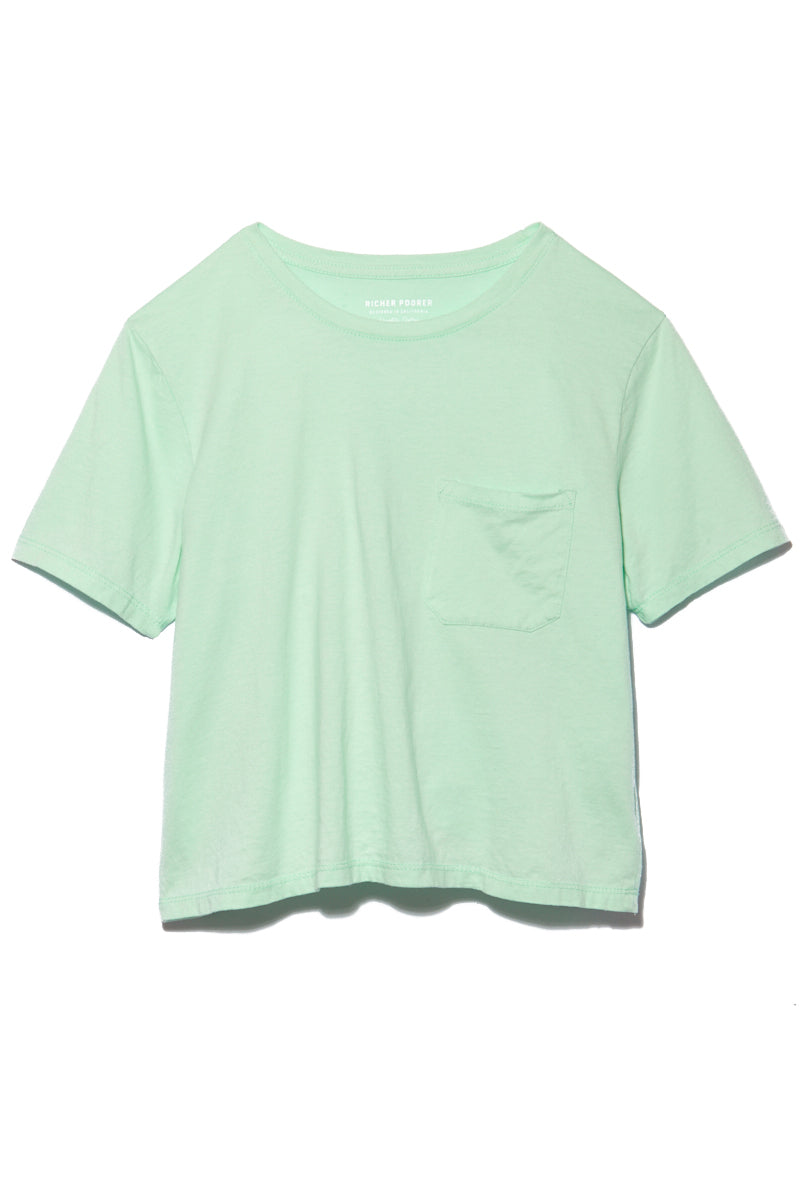 Boxy Crop Tee - Mint