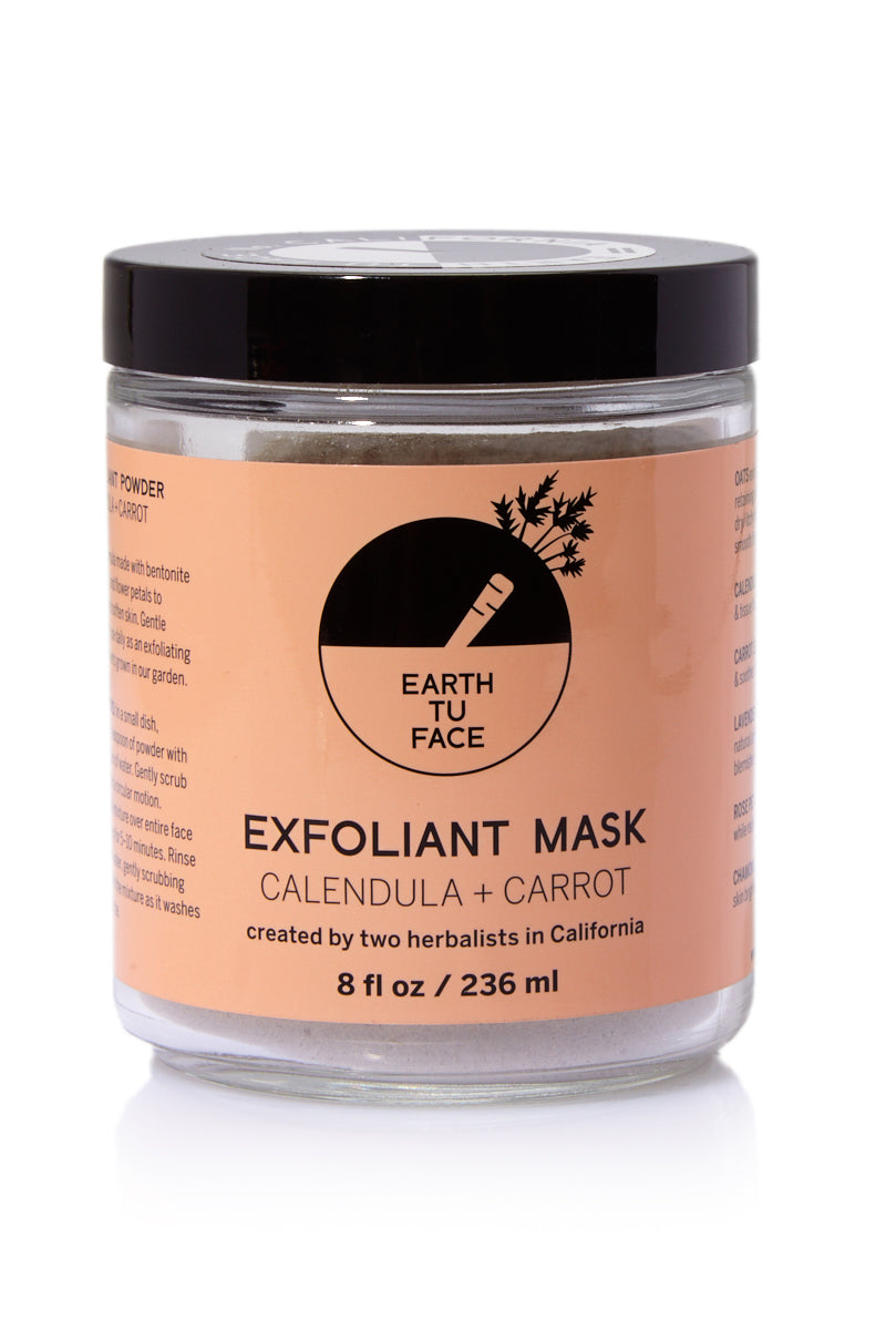 Organic Calendula + Carrot Exfoliant Powder Mask - 8 oz
