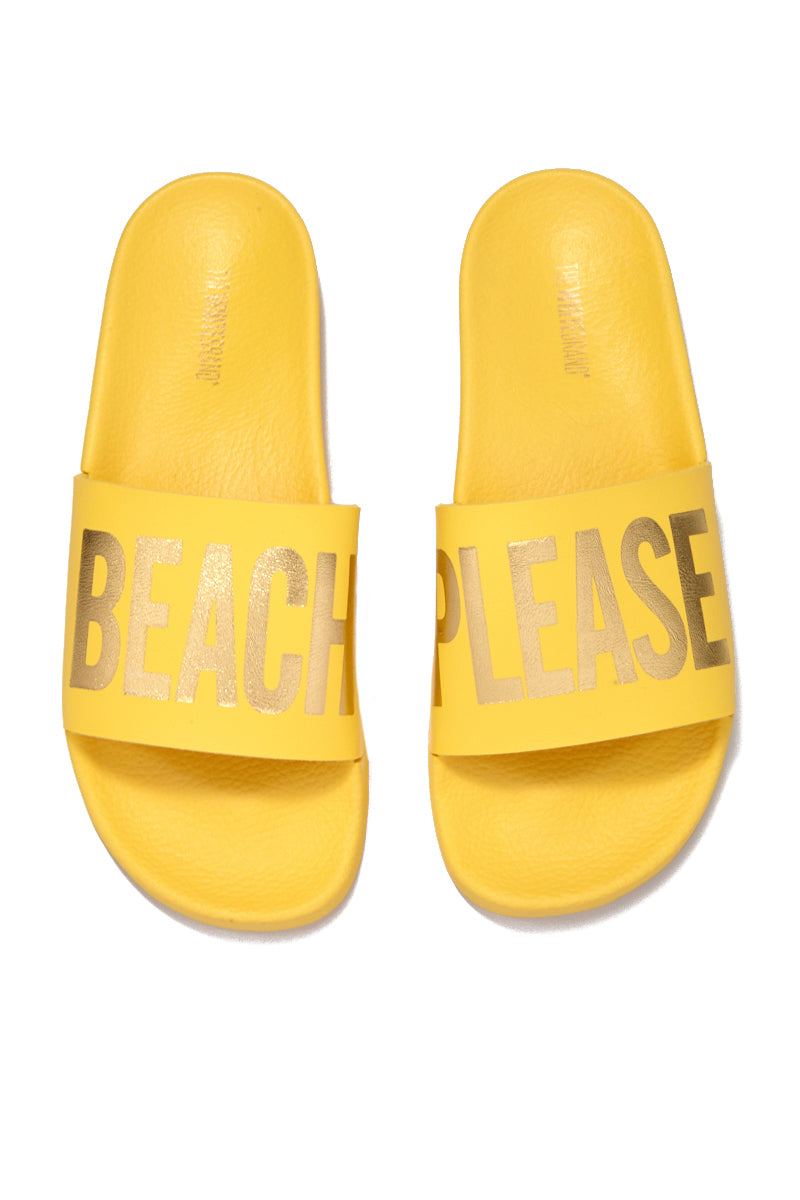 Beach Please Minimal Sandals - Yellow