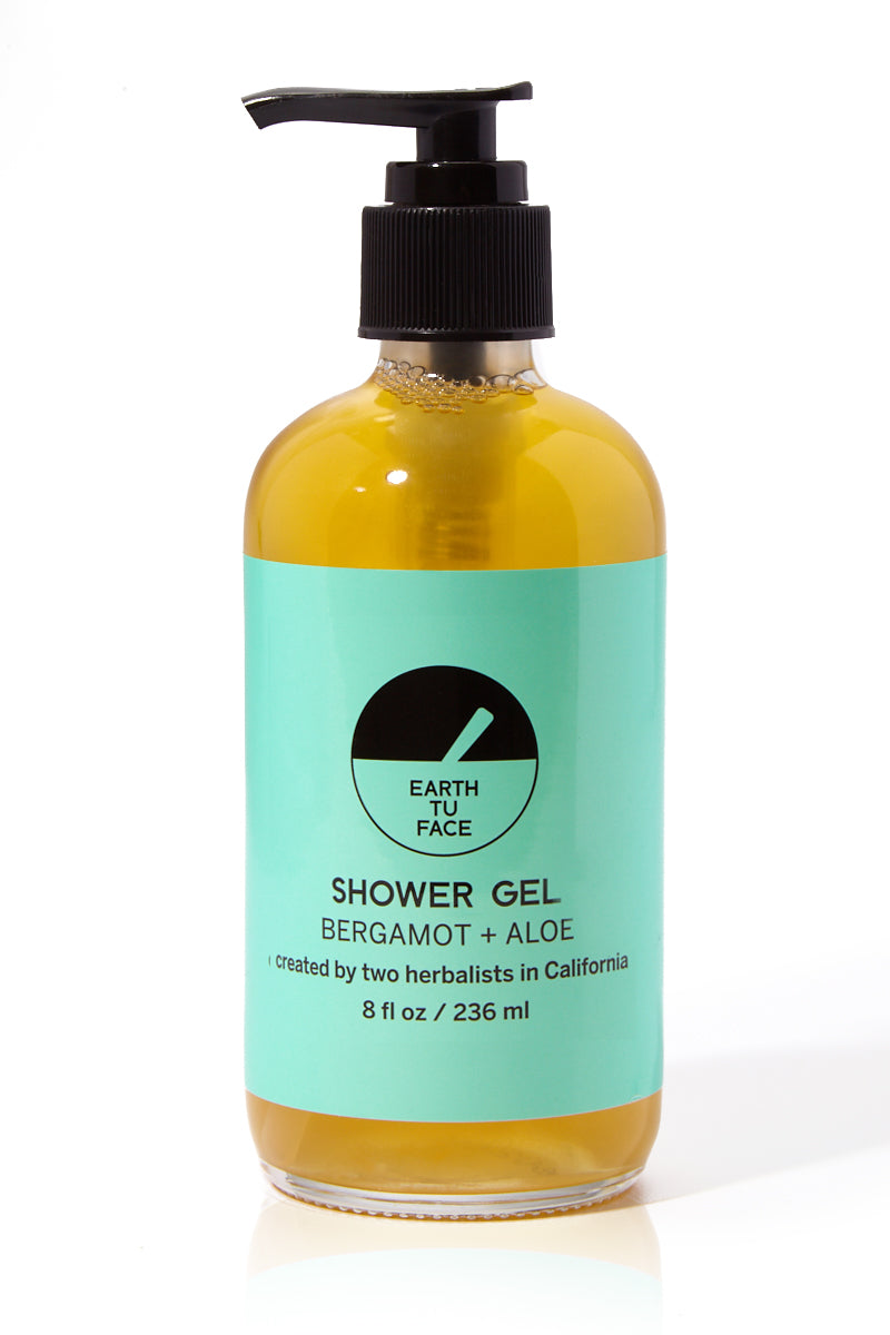 Organic Bergamot + Aloe Shower Gel - 8 oz