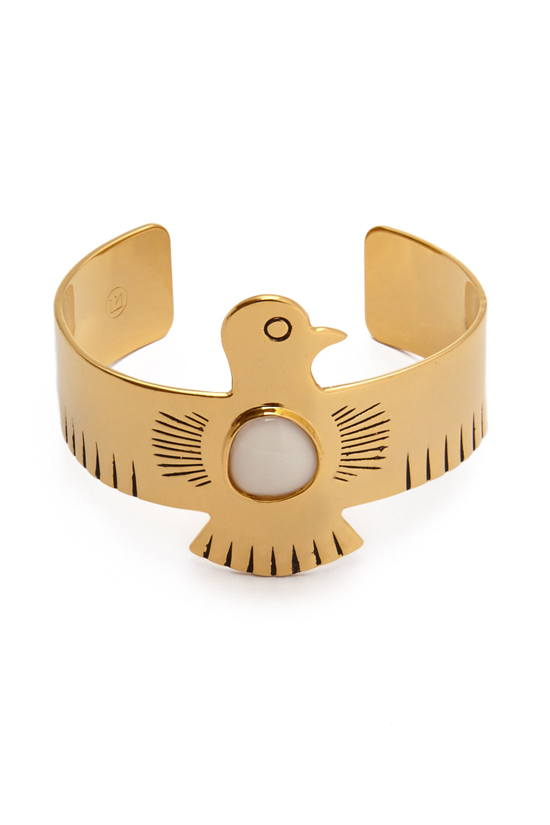 Royal Eagle Cuff - Gold